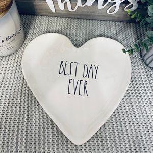 NWT Rae Dunn BEST DAY EVER Heart ♥️ Dish